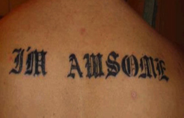 awsome tattoo spelling mistake