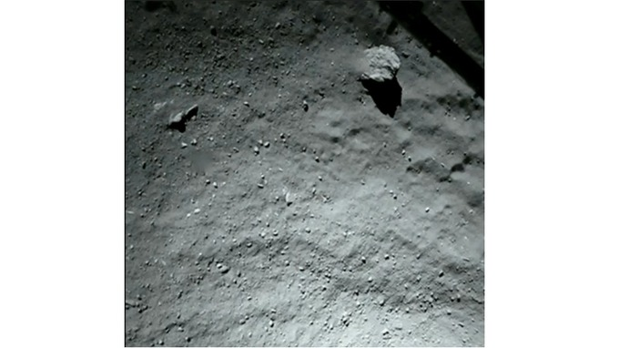 comet just before philae touched down