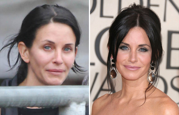 courtney cox without makeup