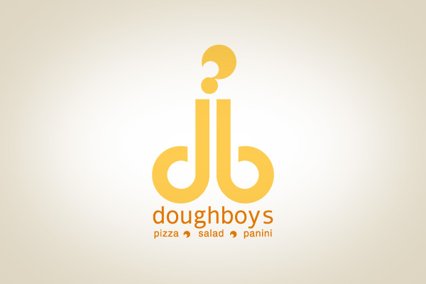 doughboys pizza terrible logo design
