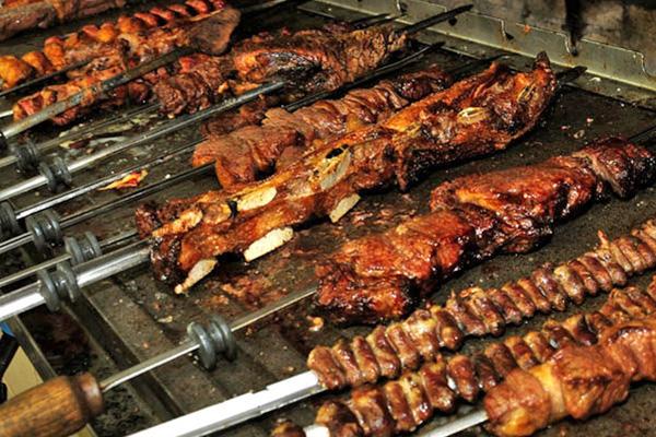 grilled brazilian bbq churrasco
