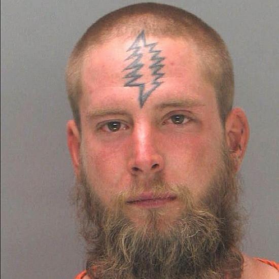 ridiculous lightning bolt face tattoo