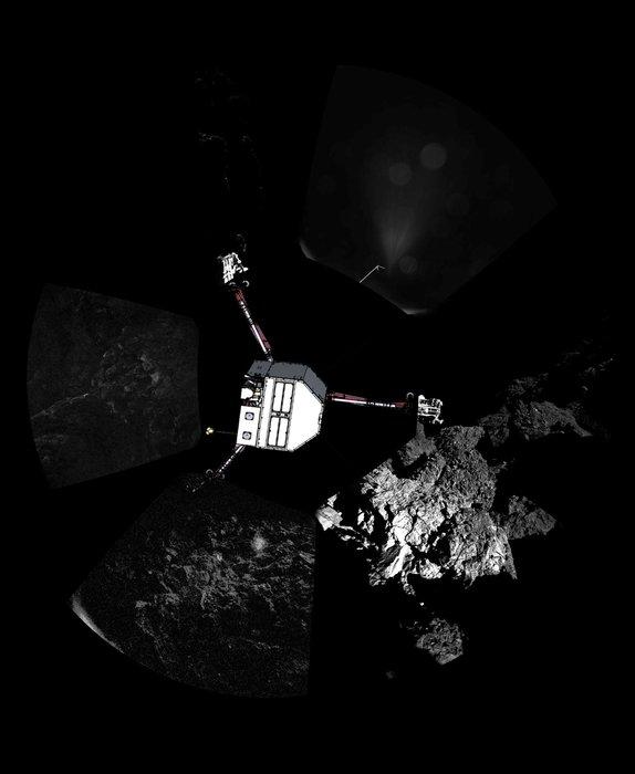 panoramic comet photo