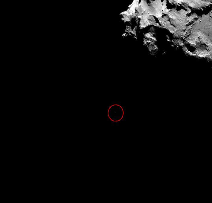 philae comet lander looks tiny