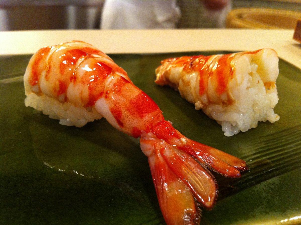 prawn sushi by Sukiyabashi Jiro Dreams of Sushi