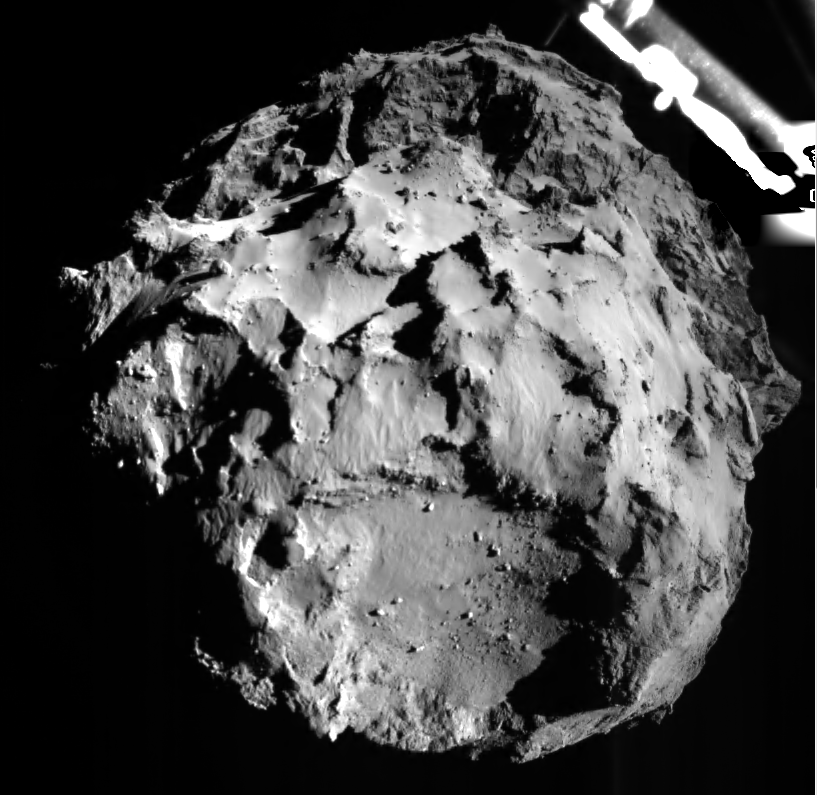 rosetta comet landing decent