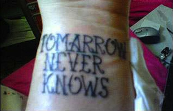 tomarrow tatoo fail