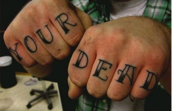 your dead tattoo grammar mistake
