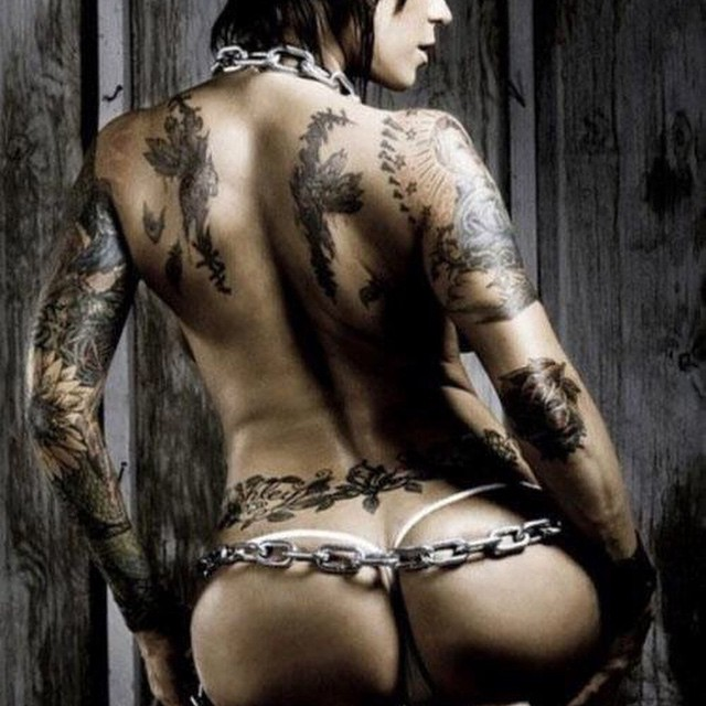 Tattooed Biker Girl