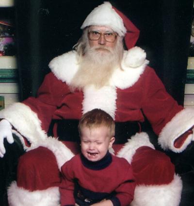baby hates santa
