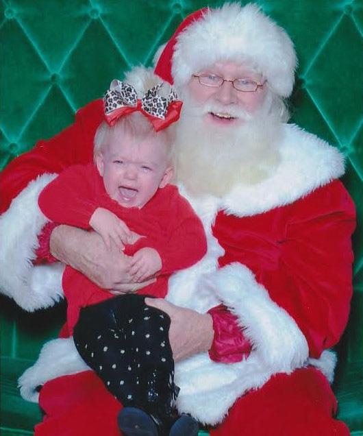 santa scaring child