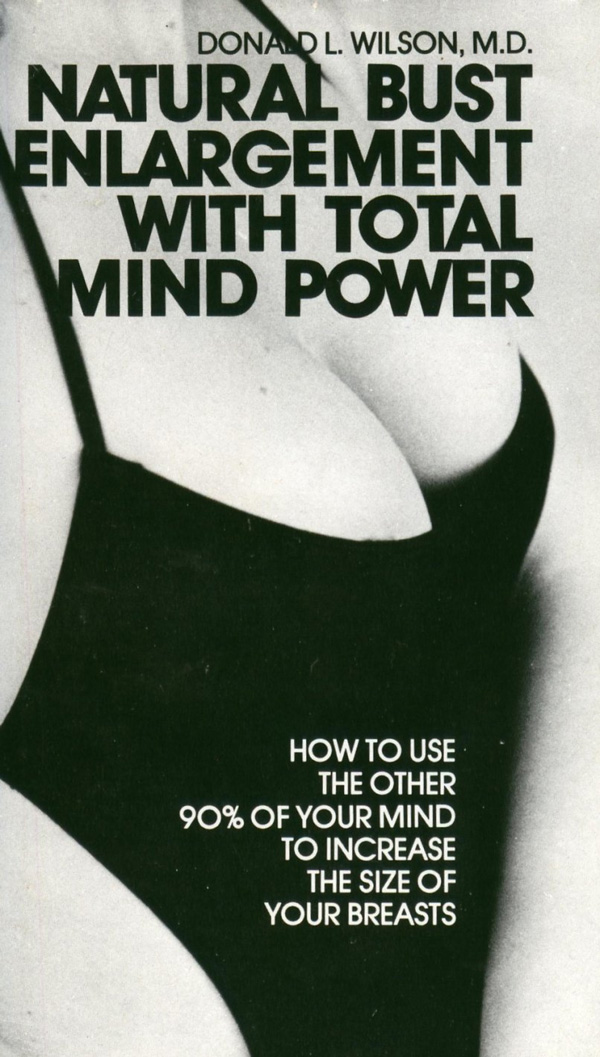 Natural Bust Enlargement with Total Mind Power silly book cover