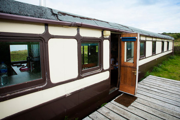 converted railway carriage aberporth wales