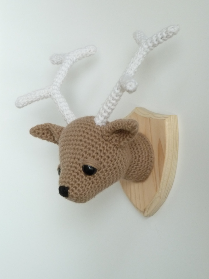 crochet taxidermy baby reindeeer