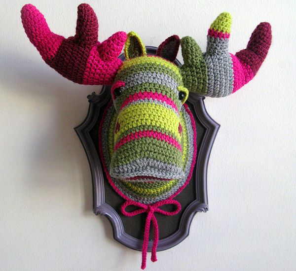 crochet taxidermy moose head ManafkaMina