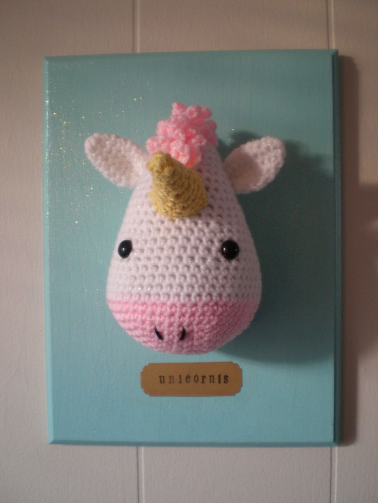crochet taxidermy unicorn