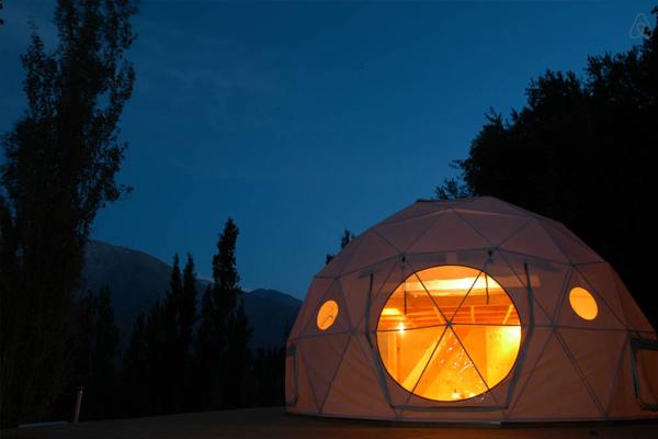 elqui domos astronomical hotel exterior night