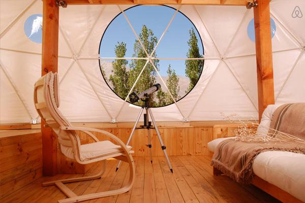 elqui domos astronomical hotel interior with telescope