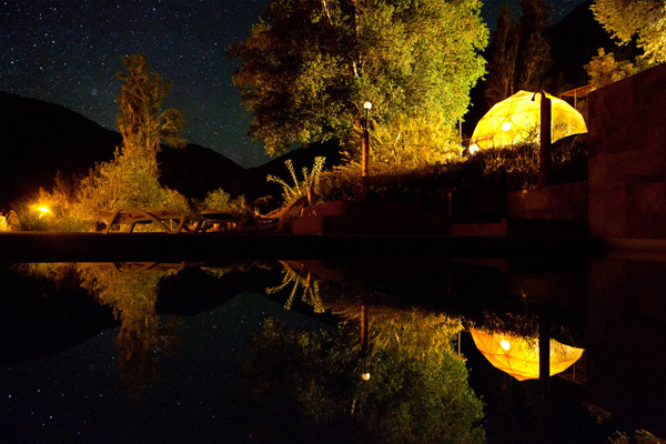 elqui domos astronomical hotel with starry sky