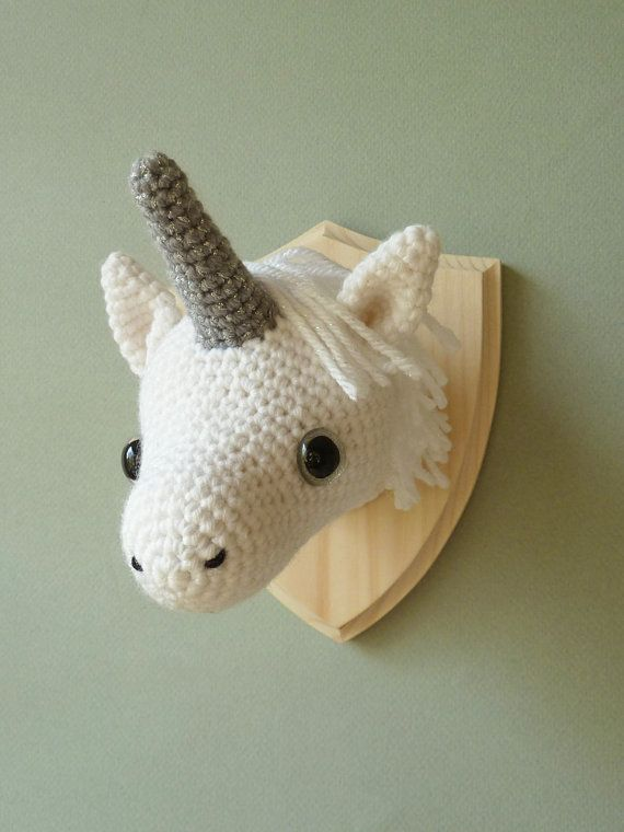 faux taxidermy crochet unicorn head pinterest