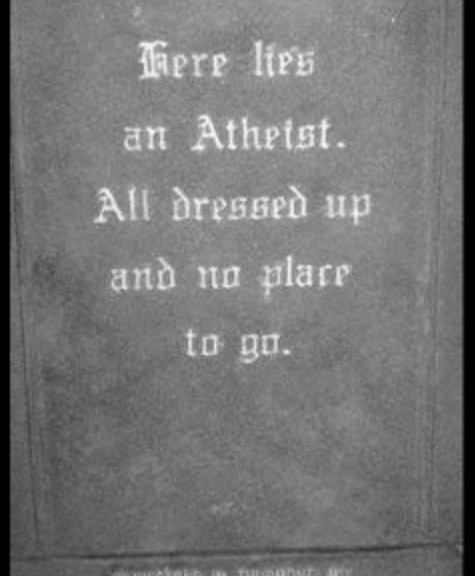 funny atheist tombstone
