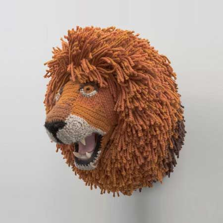 lion head crochet taxidermy pinterest