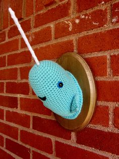 narwhal crochet taxidermy pinterest