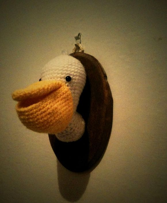 pelican crochet taxidermy pinterest