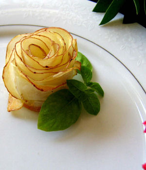 potato shaped like a rose