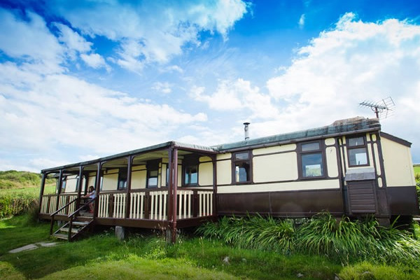 railway carriage aberporth wales