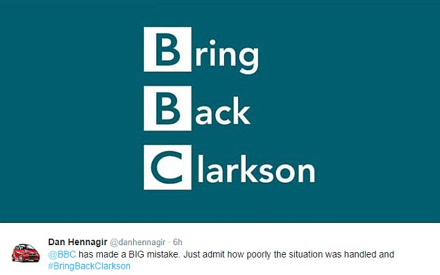bbc bring back clarkson