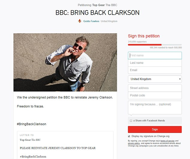 bring back clarkson petition