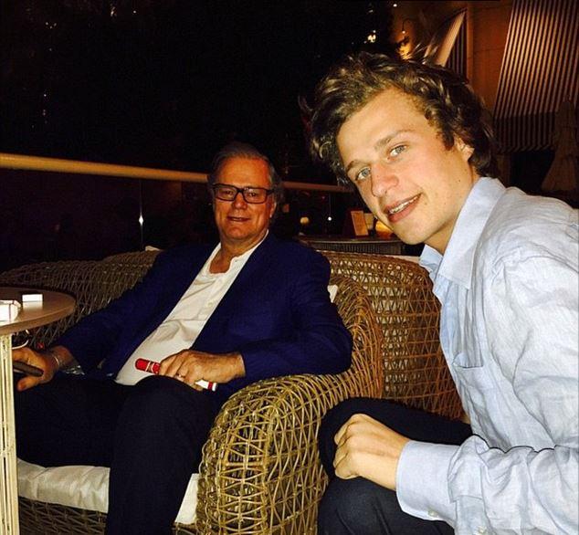 conrad hilton with his father