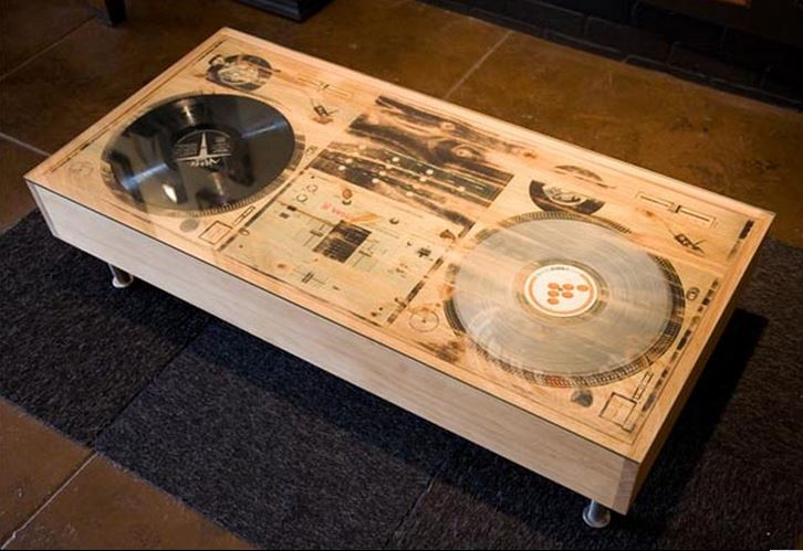 coffee table | dj vinyl turntable coffee table