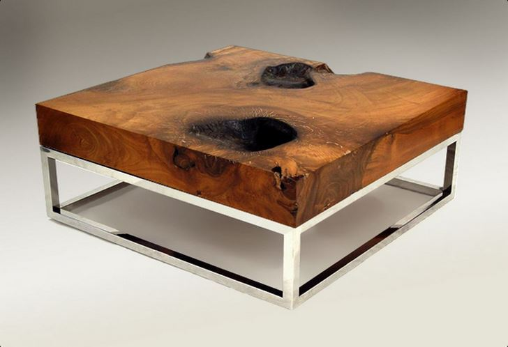 coffee table | heavy dark wood rustic coffee table