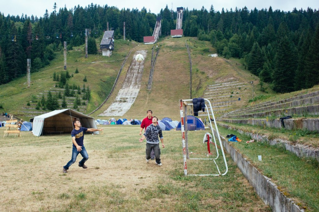 Olympic ski jumps from the 1984 Sarajevo Winter Olympics