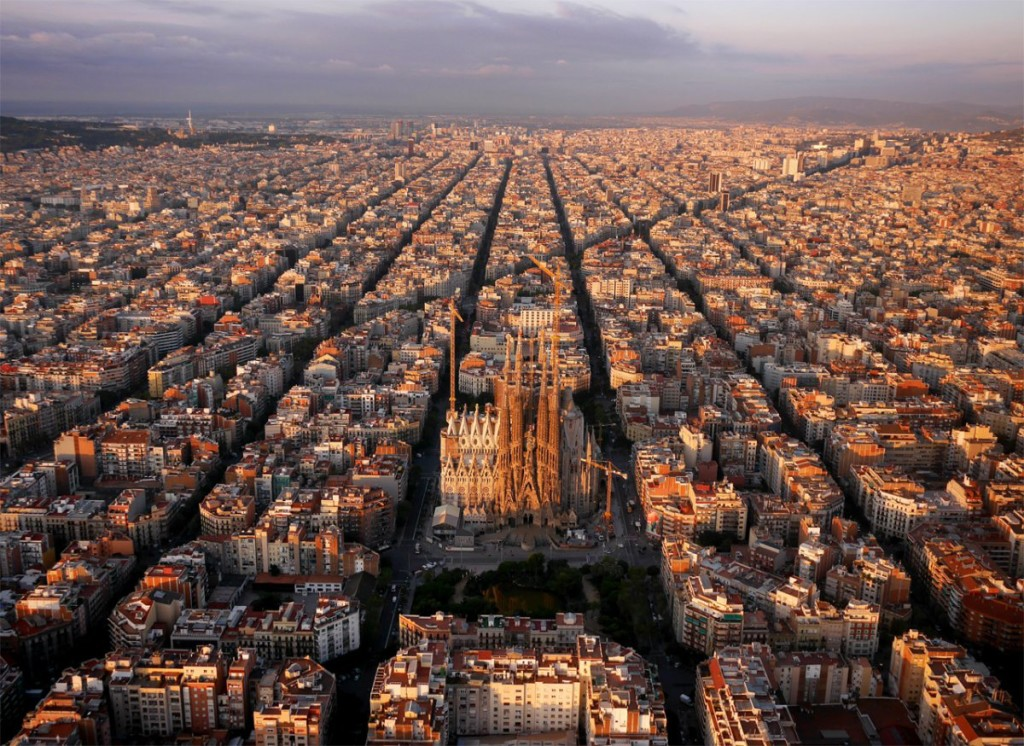 barcelona drone photography
