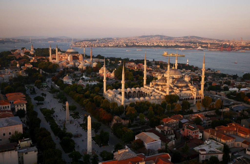 beautiful drone photograph of istanbul turkey