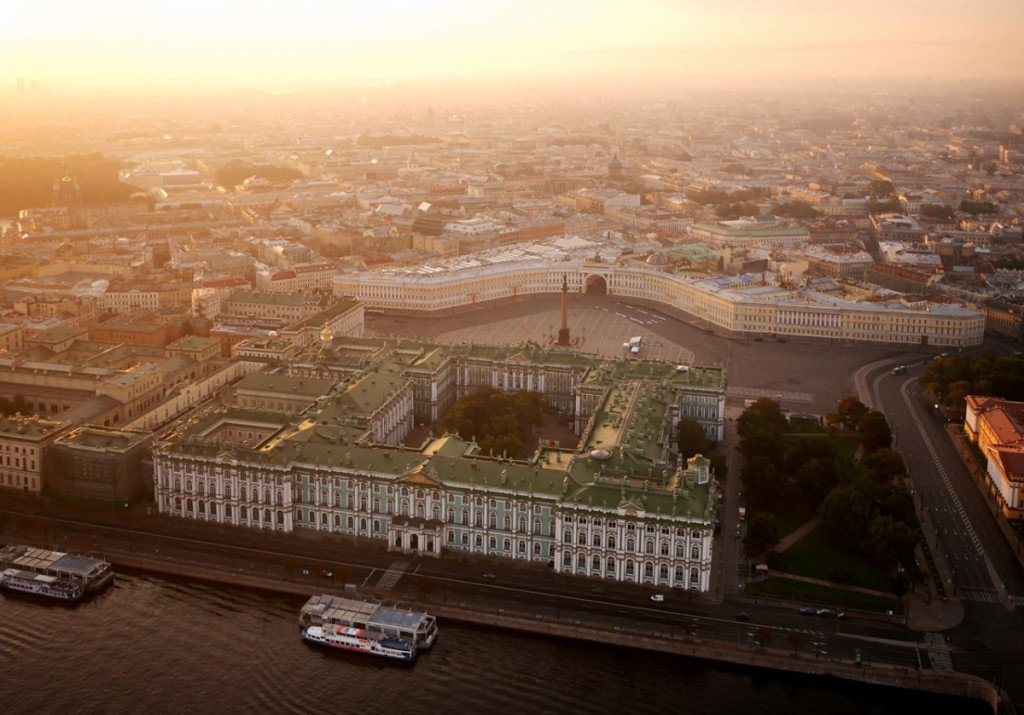 russias st petersburg photographed from a drone