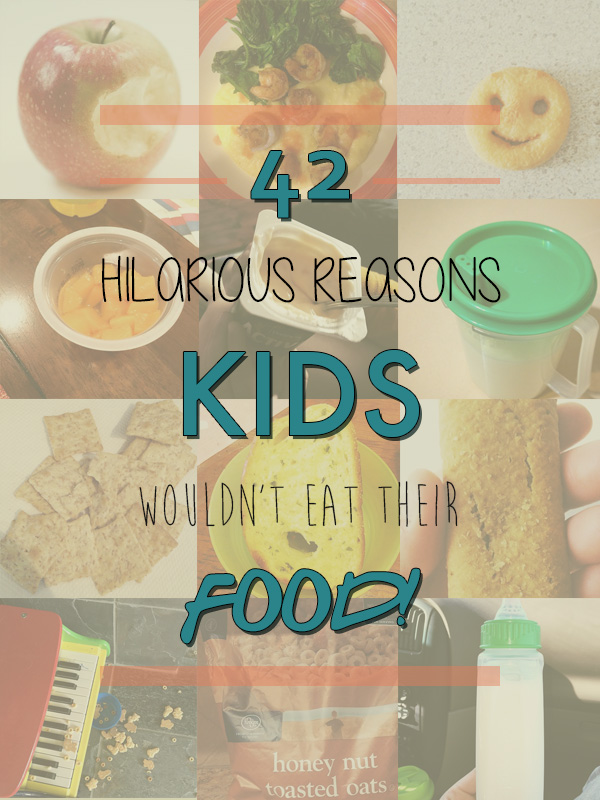 42 reasons kids wouldn't eat their food