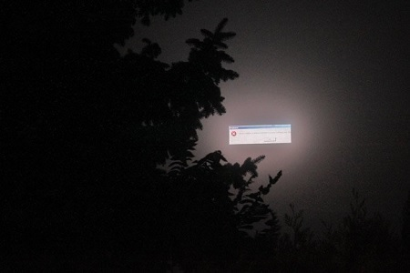 fatal error message in the sky