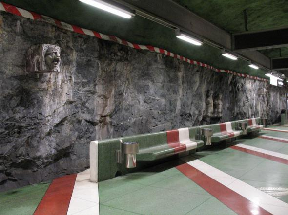 subway seating art