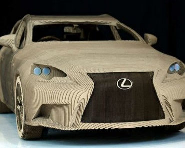 Lexus Really Have Made A Working Full-Size Origami Car From Cardboard