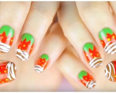 strawberry chocolate nails
