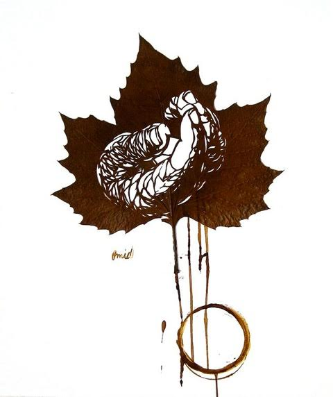 Omid Asadi leaf art-11