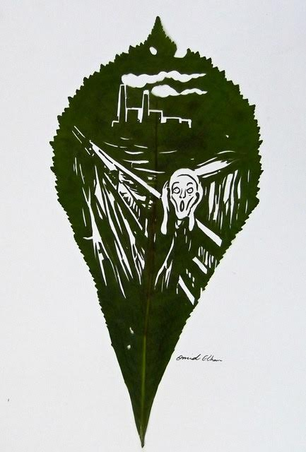 Omid Asadi leaf art-13