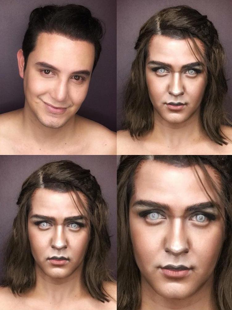 Arya Stark makeup