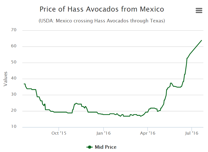 chart of haas-avocado-prices